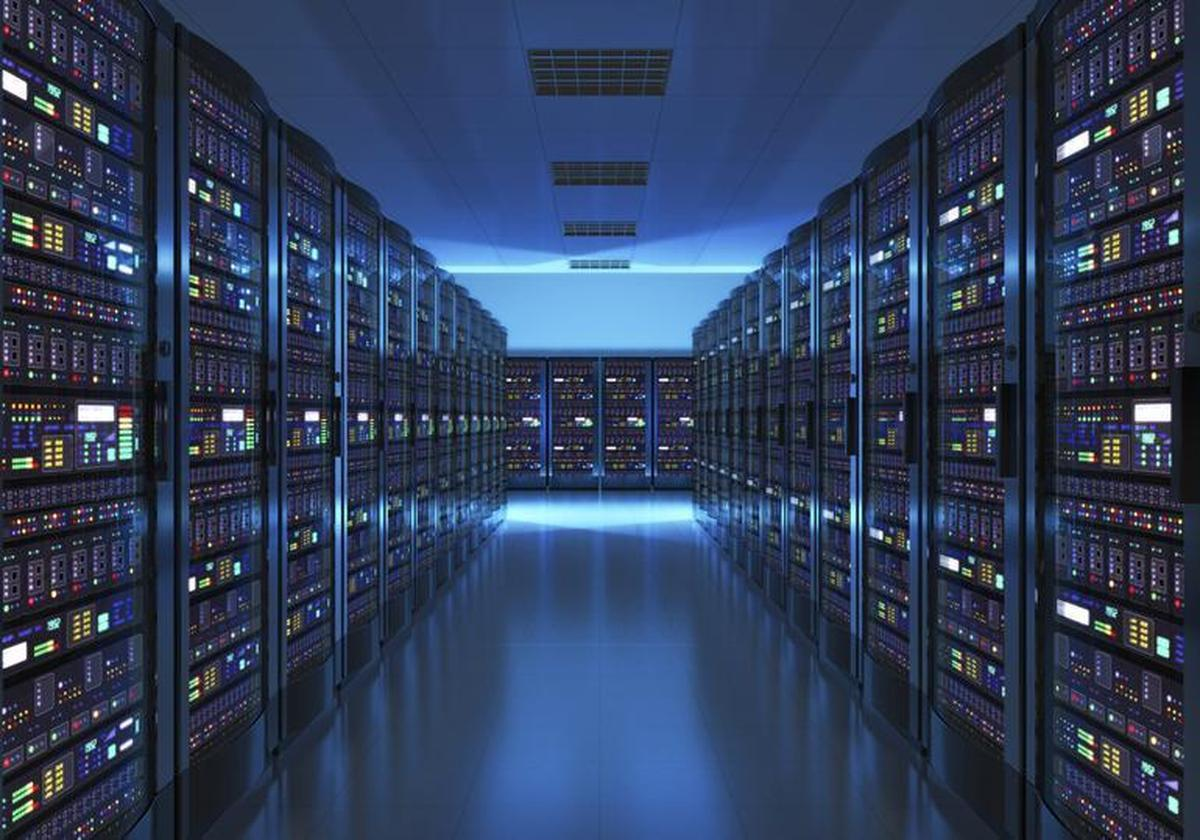 Large server bank